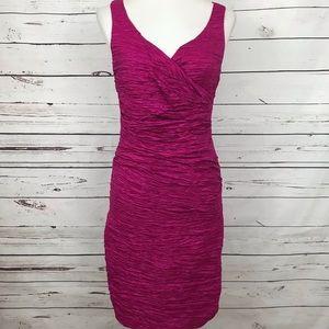 Calvin Klein Ruched Pink Cocktail Dress Size 8